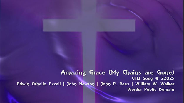 Amazing Grace / My Chains Are Gond - Backing Track HD MP4 Video