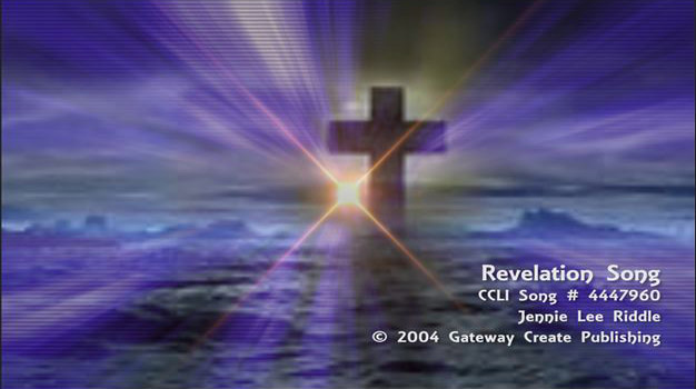Revelation Song - MP4 Video Backing Track